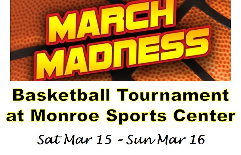 March Madness Logo 2014 Monroe sports center