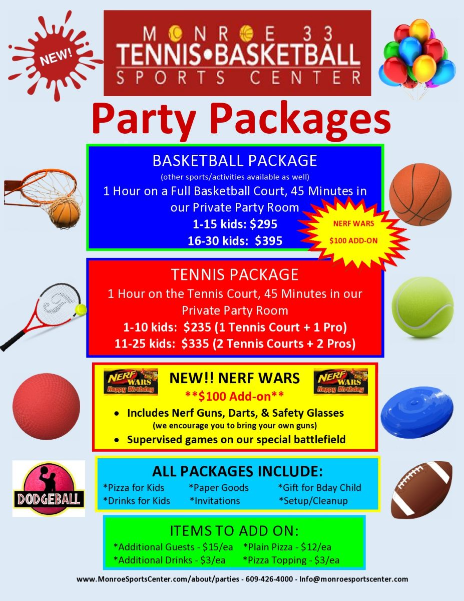 monroe sports center birthday parties at msc